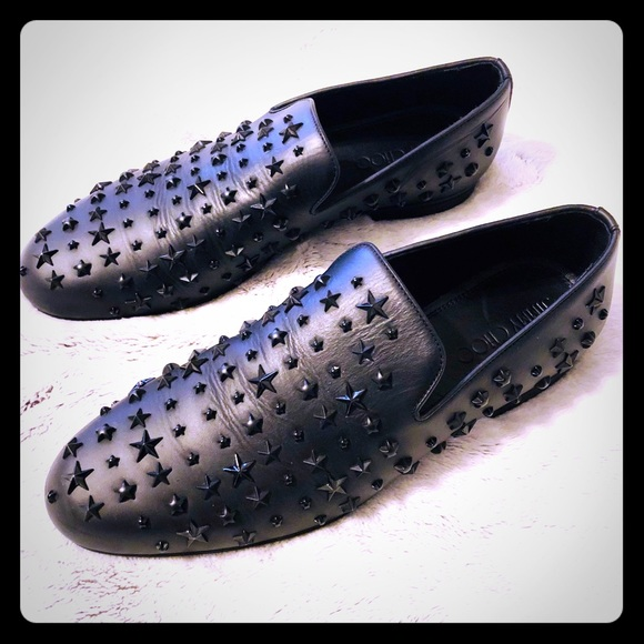12a3a5c33598 Jimmy Choo Sloane Star Studded Loafers
